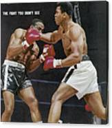 Ali Vs Liston The Fight You Didnt See Sports Illustrated Cover Canvas Print