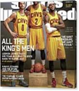 All The Kings Men 2014-15 Nba Basketball Preview Issue Sports Illustrated Cover Canvas Print