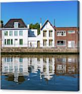 Along The Canal. Flanderenfietsroute.   Canvas Print