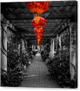 Along The Red Path Canvas Print