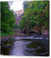 Along The Wissahickon At The Henry Avenue Bridge Canvas Print