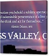 Alonzo Delano Grass Valley Quote Canvas Print