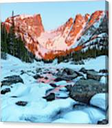 Alpenglow At Dream Lake Rocky Mountain National Park Canvas Print
