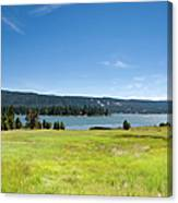 Alpine Mountian Lake And Meadow Canvas Print