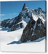 Alps White Wilderness Dramatic Canvas Print