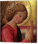 Altarpiece Angel Antique Christian Catholic Religious Art Canvas Print
