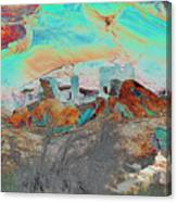 American Indian Home In Abstract Canvas Print