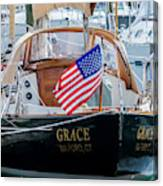 American Pride At The Marina Canvas Print