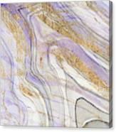 Amethyst & Gold I Canvas Print
