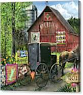 Amish Quilts Canvas Print