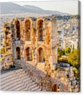 Amphitheater Of The Acropolis Of Canvas Print