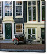 Amsterdam Bike Scene Canvas Print