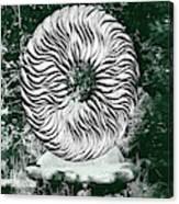 An Abstract Wooden Sculpture Canvas Print