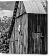 An American Barn Bw Canvas Print