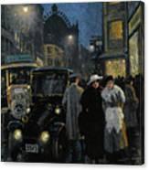 An Evening Stroll On The Boulevard Canvas Print