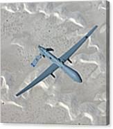 An Mq-1 Predator Flies A Training Canvas Print