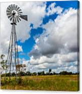 An Old Vintage Windmill Used To Pump Canvas Print