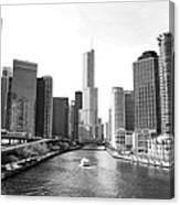 An Unknown Skyline Along The Chicago Canvas Print