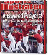 Anaheim Angels John Lackey, 2002 World Series Sports Illustrated Cover Canvas Print