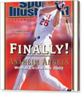 Anaheim Angels Troy Glaus, 2002 World Series Champions Sports Illustrated Cover Canvas Print