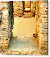 Ancient Windows Aztec Ruins Canvas Print