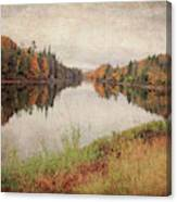 Androscoggin River, 13 Mile Woods Antiqued Canvas Print