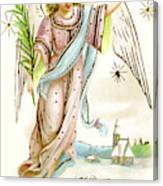 Angel  Carrying A Palm Branch Canvas Print