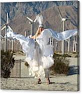 Angel Swirling In The Desert Canvas Print