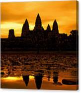 Angkor Wat At Sunrise Canvas Print