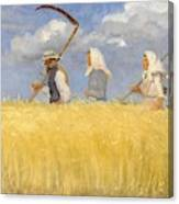 Anna Ancher - Harvesters Canvas Print