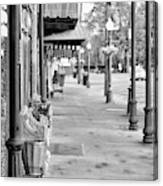 Antique Alley In Black And White Canvas Print