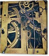 Antique Clock Gears, Cog And Parts Canvas Print