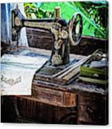 Antique Sewing Machine Canvas Print