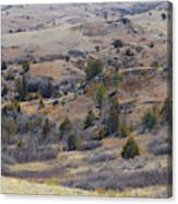 April Badlands Near Amidon Canvas Print