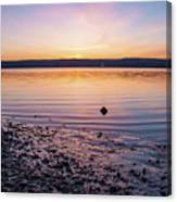 April Dawn On The Hudson River II Canvas Print