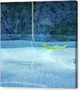 Aqua Agua And Leaf Canvas Print