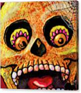 Aranas Sugarskull Of Spiders Canvas Print