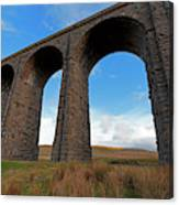 Arches And Piers Of The Ribblehead Viaduct North Yorkshire Canvas Print