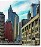 Architecture Nyc From Brooklyn Bridge  Canvas Print