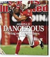 Arizona Cardinals Larry Fitzgerald, 2009 Nfc Wild Card Sports Illustrated Cover Canvas Print