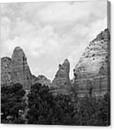 Arizona Mountain Red Rock Monochrome Canvas Print