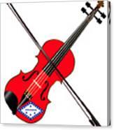 Arkansas State Fiddle Canvas Print