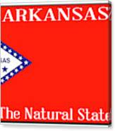 Arkansas State License Plate Canvas Print