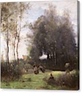 Arleux-palluel The Bridge Of Trysts Canvas Print
