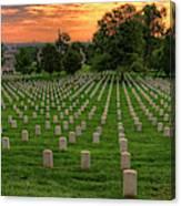 Arlington National Cemetery Sunrise Canvas Print