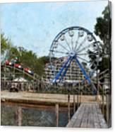 Arnolds Park - Grunge Look Canvas Print