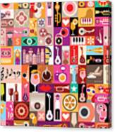 Art Collage, Musical Vector Canvas Print