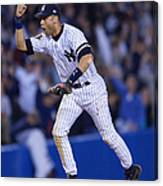 As V Yankees X Jeter Canvas Print