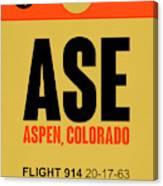 Ase Aspen Luggage Tag I Canvas Print