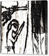Assassin After Mikhail Larionov Black Oil Painting 10 Canvas Print